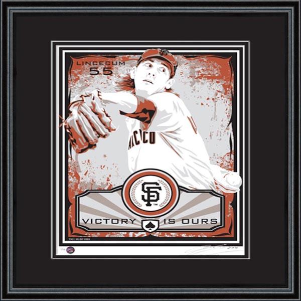 お取り寄せ MLB ジャイアンツ ティム・リンスカム シルクスクリーン アート インテリア