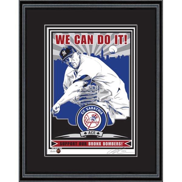 お取り寄せ MLB ヤンキース C.C.サバシア シルクスクリーン アート インテリア