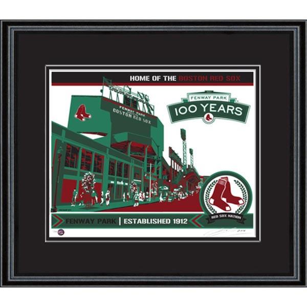 お取り寄せ MLB レッドソックス フェンウェイ・パーク シルクスクリーン アート インテリア