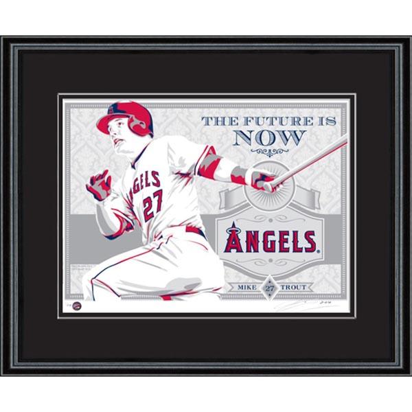 お取り寄せ MLB エンゼルス マイク・トラウト シルクスクリーン アート インテリア