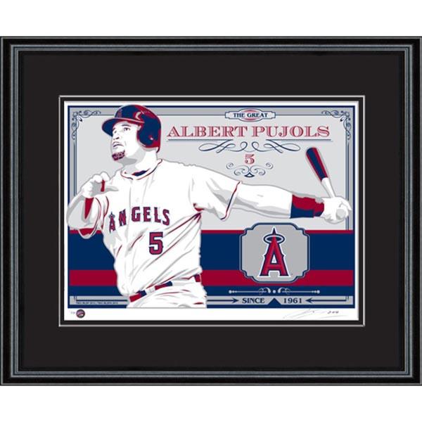 お取り寄せ MLB エンゼルス アルバート・プホルス シルクスクリーン アート インテリア