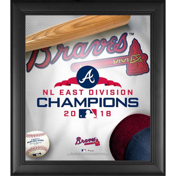 お取り寄せ MLB ブレーブス 2018 ナ・リーグ東地区 優勝記念 コラージュ フレーム