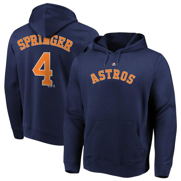 お取り寄せ MLB アストロズ ジョージ・スプリンガー パーカー/フーディー ネーム&ナンバー マジェスティック/Majestic