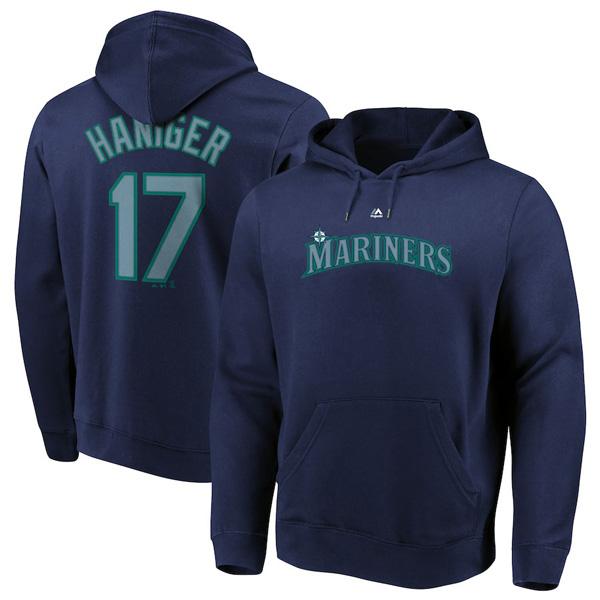 お取り寄せ MLB マリナーズ ミッチ・ハニガー パーカー/フーディー ネーム&ナンバー マジェスティック/Majestic