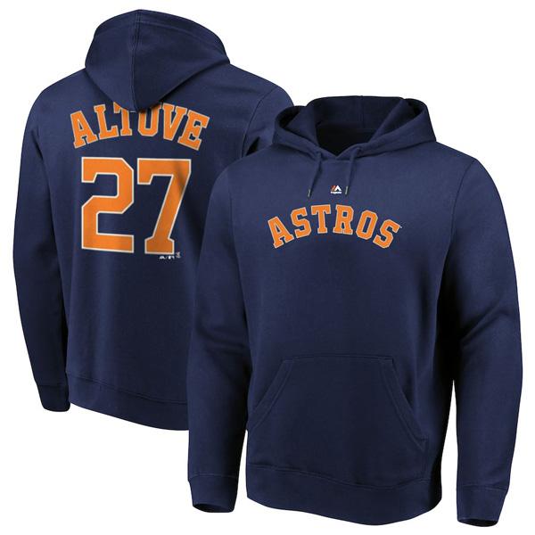 お取り寄せ MLB アストロズ ホセ・アルテューベ パーカー/フーディー ネーム&ナンバー マジェスティック/Majestic