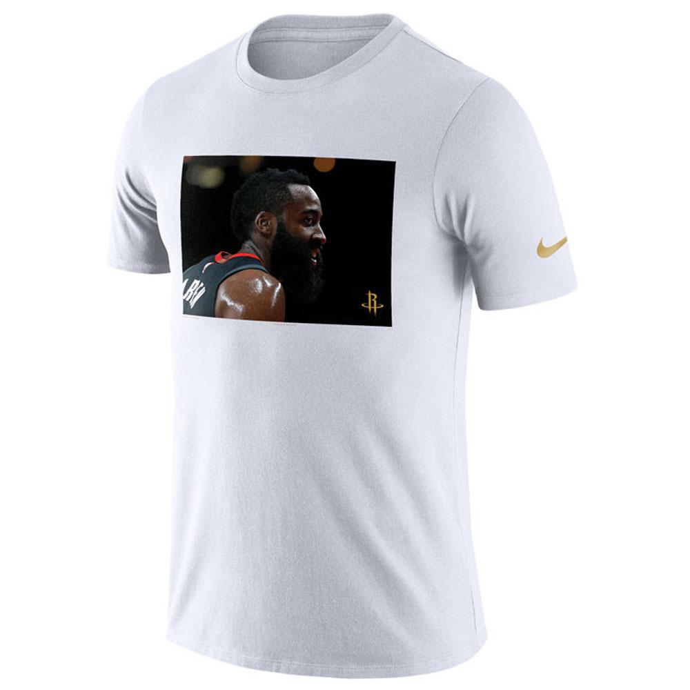 NBA ロケッツ ジェイムス・ハーデン Tシャツ 半袖 スターフォト リール ナイキ/Nike ホワイト