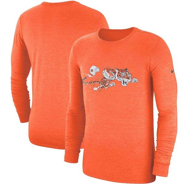お取り寄せ NFL ベンガルズ ロングTシャツ オールドロゴ トライブレンド ヒストリック ナイキ/Nike オレンジ