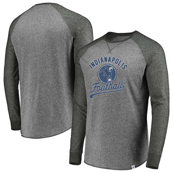 お取り寄せ NFL コルツ ロングTシャツ オールドロゴ ラグラン ヒストリック マジェスティック/Majestic