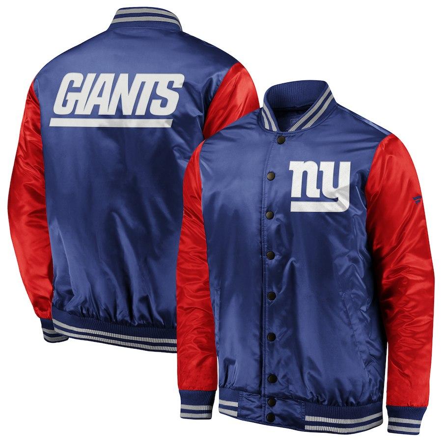 お取り寄せ NFL ジャイアンツ ジャケット/アウター アイコニック サテン ボンバー ロイヤル