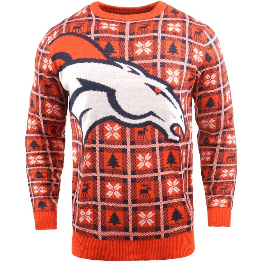 お取り寄せ NFL ブロンコス パーカー/フーディー ビッグ ロゴ プルオーバー セーター オレンジ