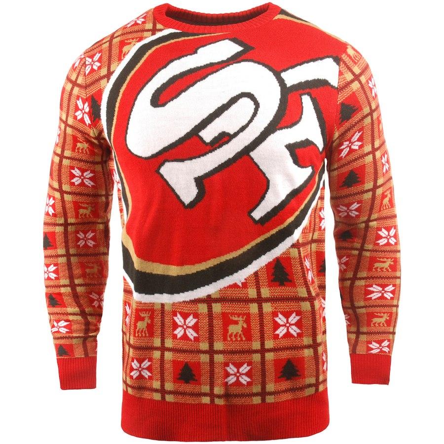 お取り寄せ NFL 49ers パーカー/フーディー ビッグ ロゴ プルオーバー セーター スカーレット