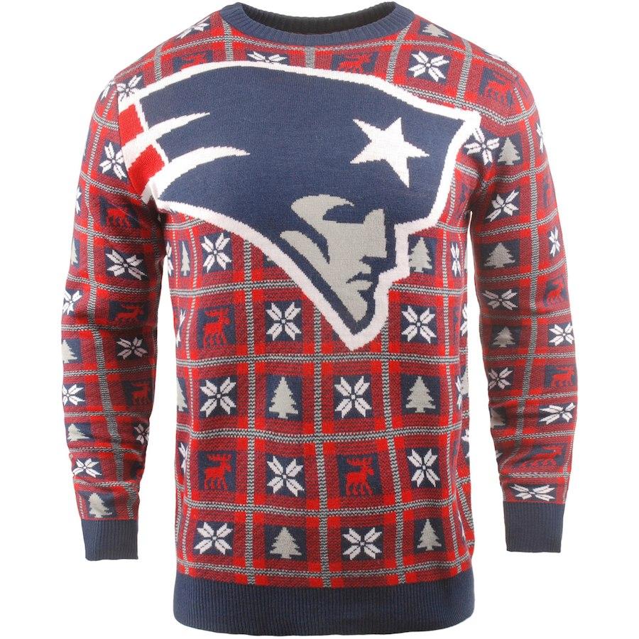 お取り寄せ NFL ペイトリオッツ パーカー/フーディー ビッグ ロゴ プルオーバー セーター レッド