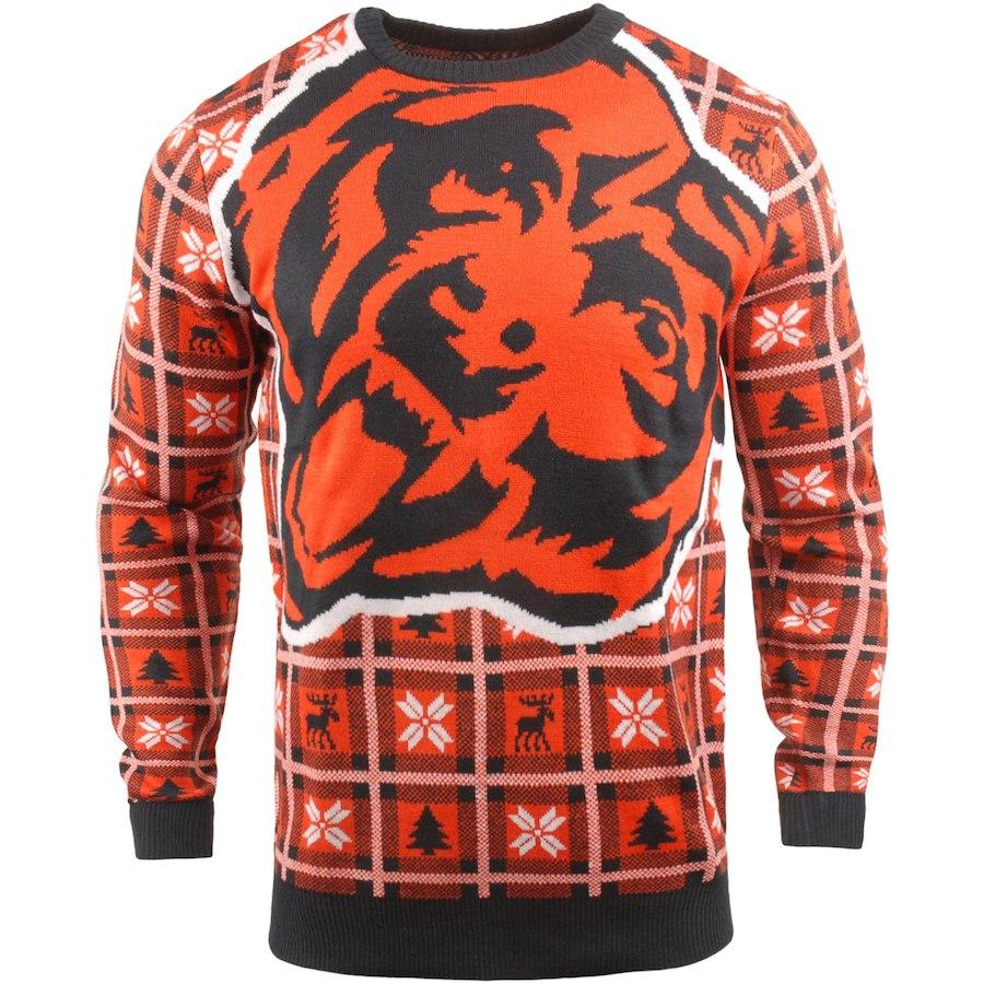 お取り寄せ NFL ベアーズ パーカー/フーディー ビッグ ロゴ プルオーバー セーター オレンジ