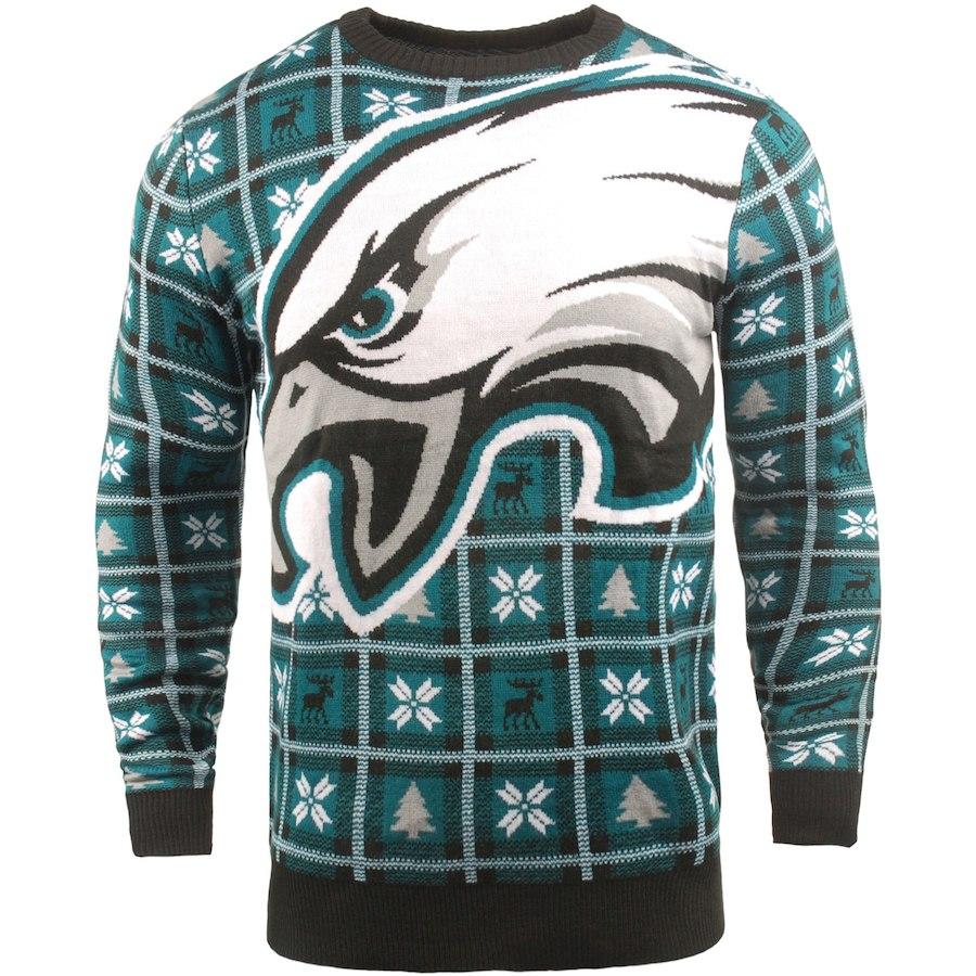 お取り寄せ NFL イーグルス パーカー/フーディー ビッグ ロゴ プルオーバー セーター ミッドナイトグリーン