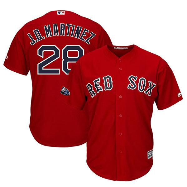 お取り寄せ MLB レッドソックス J.D. マルティネス ユニフォーム/ジャージ 2018 プレーオフ進出記念 レプリカ オルタネート