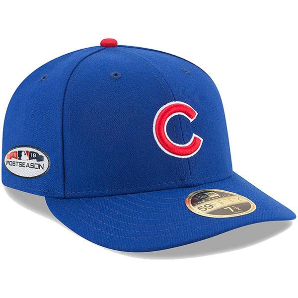 お取り寄せ MLB カブス キャップ/帽子 2018 プレーオフ進出記念 サイドパッチ ロープロファイル ニューエラ/New Era ロイヤル