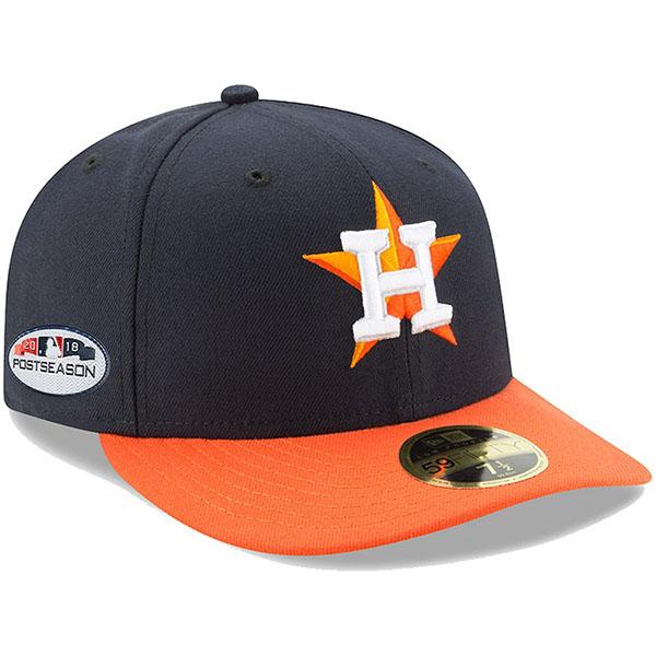 お取り寄せ MLB アストロズ キャップ/帽子 2018 プレーオフ進出記念 サイドパッチ ロープロファイル ネイビー/オレンジ