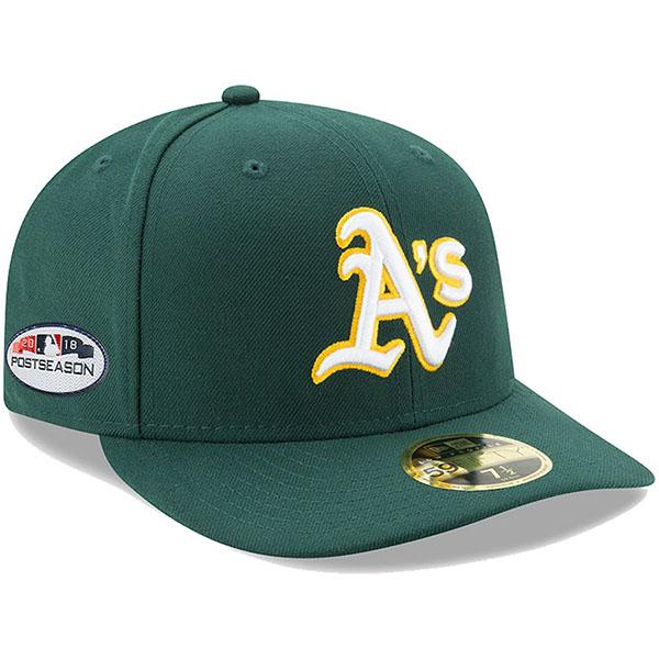 お取り寄せ MLB アスレチックス キャップ/帽子 2018 プレーオフ進出記念 サイドパッチ ロープロファイル ロード