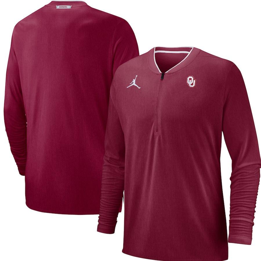 お取り寄せ ナイキ ジョーダン/NIKE JORDAN オクラホマ大学 スーナーズ ジャケット/アウター NCAA コーチ パフォーマンス クリムゾン