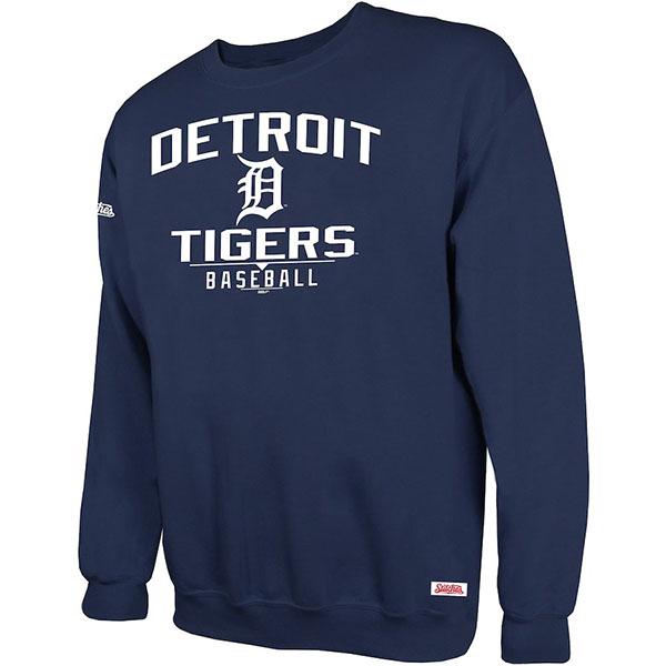 お取り寄せ MLB タイガース スウェットシャツ/トレーナー ホリデー プルオーバー クルー Stitches ネイビー