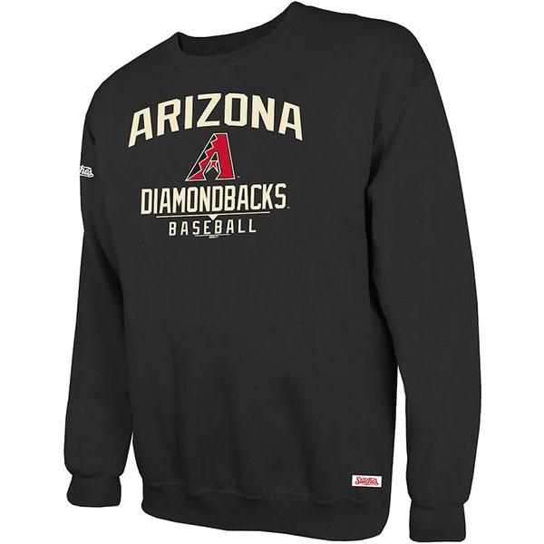 お取り寄せ MLB ダイヤモンドバックス スウェットシャツ/トレーナー ホリデー プルオーバー クルー Stitches ブラック