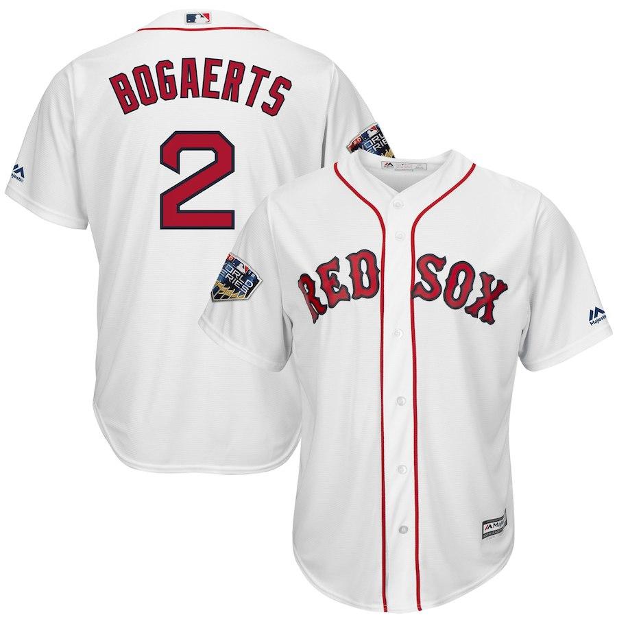 お取り寄せ MLB レッドソックス ザンダー・ボガーツ ユニフォーム/ジャージ ワールドシリーズ 2018 進出記念 クールベース