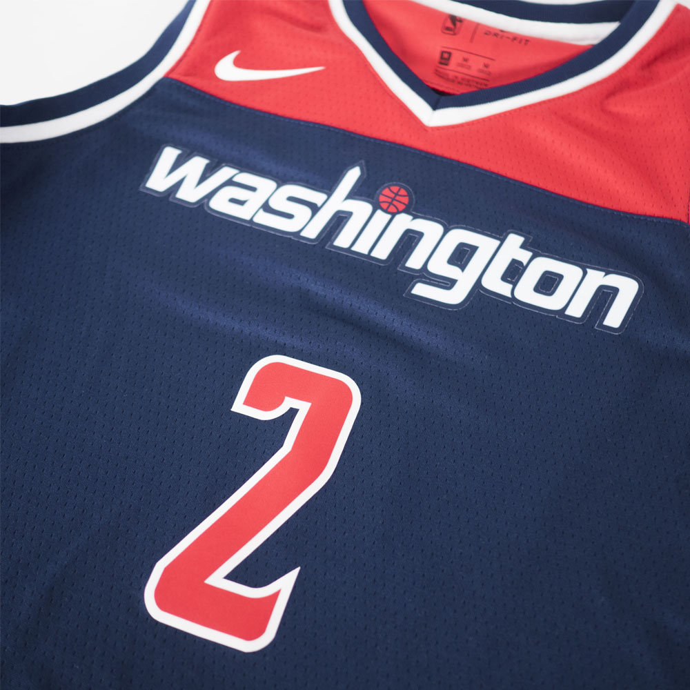 purchase cheap 07c23 c7271 NBA Wizards John wall uniform / jersey kids swing man statement Nike /Nike  navy 190806 price change