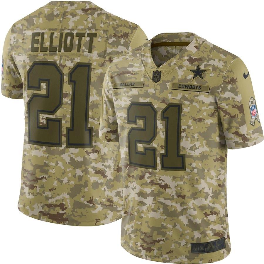 newest 830fb 3d27f NFL Cowboys Ezekiel Eliot uniform / jersey salute toe service limited Nike  /Nike duck