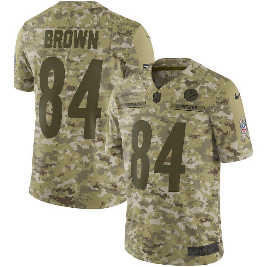 お取り寄せ NFL スティーラーズ アントニオ・ブラウン ユニフォーム/ジャージ サルート トゥ サービス リミテッド ナイキ/Nike カモ