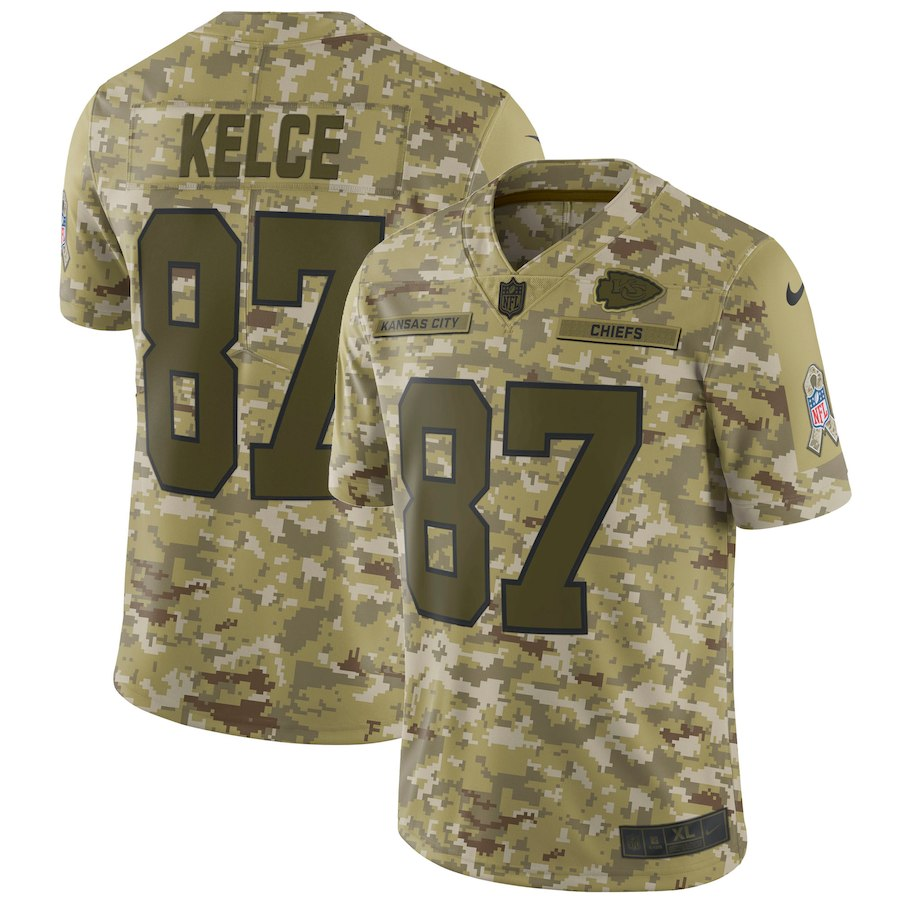 お取り寄せ NFL チーフス トラビス・ケルス ユニフォーム/ジャージ サルート トゥ サービス リミテッド ナイキ/Nike カモ