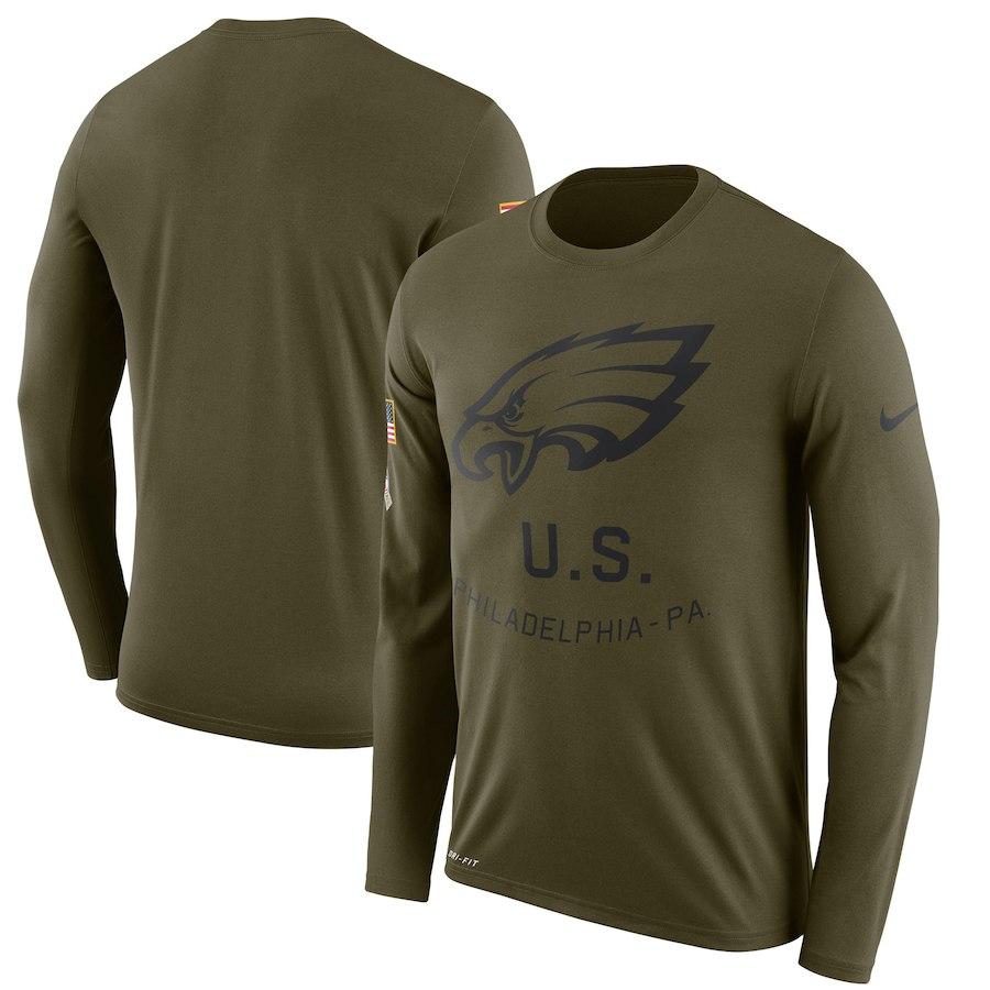 お取り寄せ NFL イーグルス Tシャツ サルート トゥ サービス サイドライン レジェンド ロンT ナイキ/Nike オリーブ