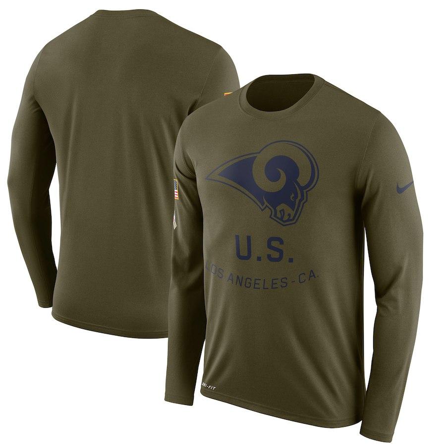 お取り寄せ NFL ラムズ Tシャツ サルート トゥ サービス サイドライン レジェンド ロンT ナイキ/Nike オリーブ