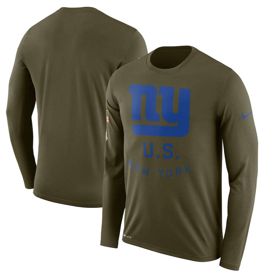 お取り寄せ NFL ジャイアンツ Tシャツ サルート トゥ サービス サイドライン レジェンド ロンT ナイキ/Nike オリーブ