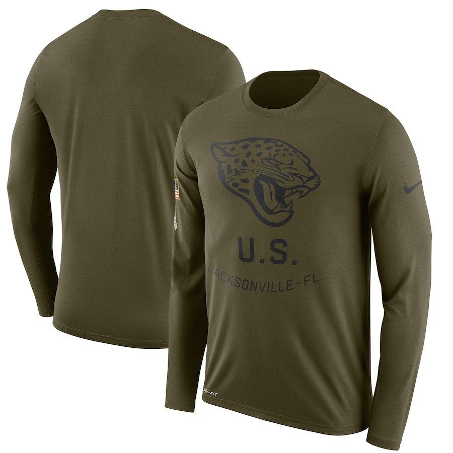 お取り寄せ NFL ジャガーズ Tシャツ サルート トゥ サービス サイドライン レジェンド ロンT ナイキ/Nike オリーブ