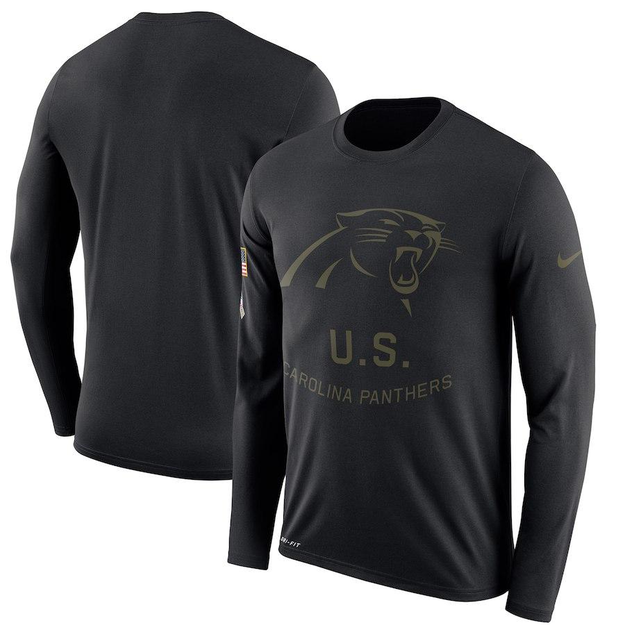 お取り寄せ NFL パンサーズ Tシャツ サルート トゥ サービス サイドライン レジェンド ロンT ナイキ/Nike ブラック