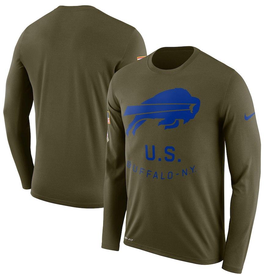 お取り寄せ NFL ビルズ Tシャツ サルート トゥ サービス サイドライン レジェンド ロンT ナイキ/Nike オリーブ