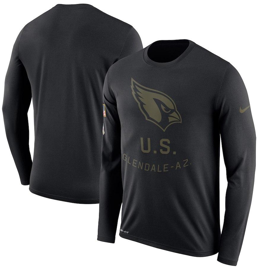 お取り寄せ NFL カーディナルス Tシャツ サルート トゥ サービス サイドライン レジェンド ロンT ナイキ/Nike ブラック