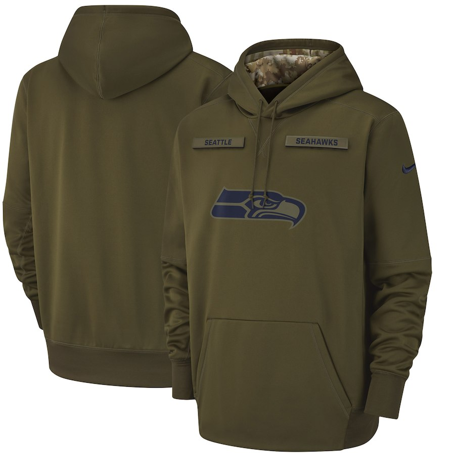 NFL シーホークス パーカー/フーディー サルート トゥ サービス サイドライン サーマ ナイキ/Nike オリーブ