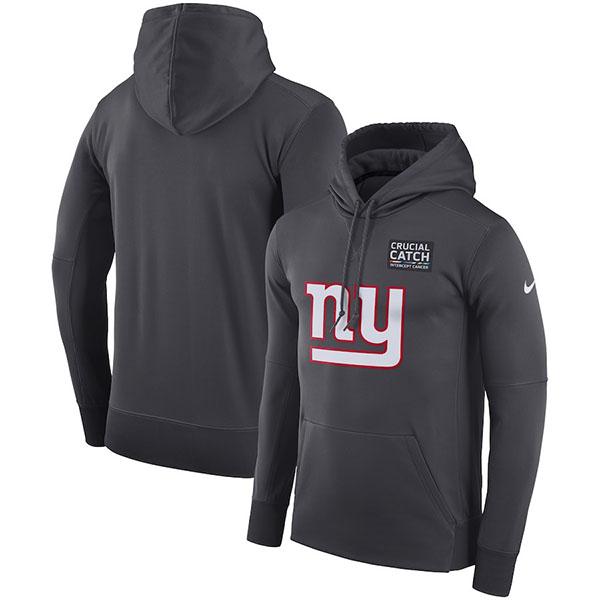 お取り寄せ NFL ジャイアンツ パーカー/フーディー クルーシャル キャッチ パフォーマンス ナイキ/Nike アンスラサイト