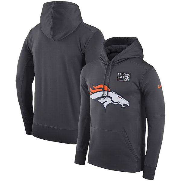 お取り寄せ NFL ブロンコス パーカー/フーディー クルーシャル キャッチ パフォーマンス ナイキ/Nike アンスラサイト