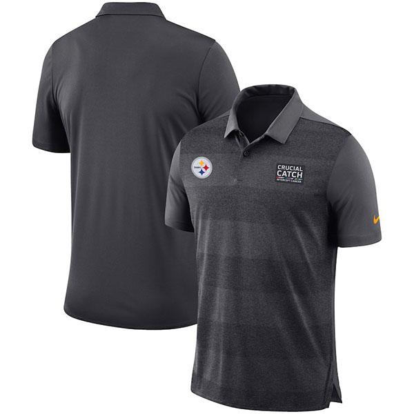 お取り寄せ NFL スティーラーズ クルーシャル キャッチ ポロシャツ ナイキ/Nike アンスラサイト