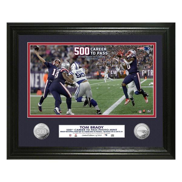 満点の お取り寄せ NFL ペイトリオッツ お取り寄せ トム・ブレイディ 通算500タッチダウンパス記念 シルバーコイン The フォトミント Mint The Highland Mint, 【限定品】:d232f1e2 --- hortafacil.dominiotemporario.com