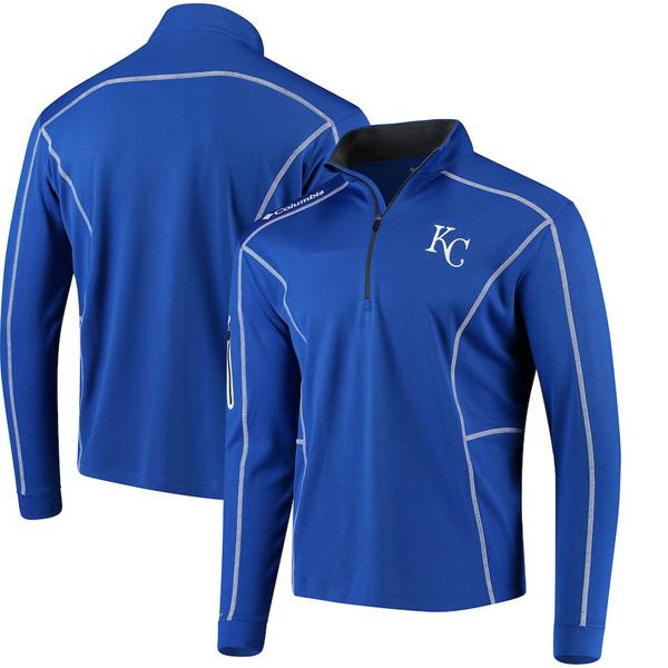 お取り寄せ MLB ロイヤルズ ジャケット/アウター ショットガン クォータージップ プルオーバー コロンビア/Columbia ロイヤル