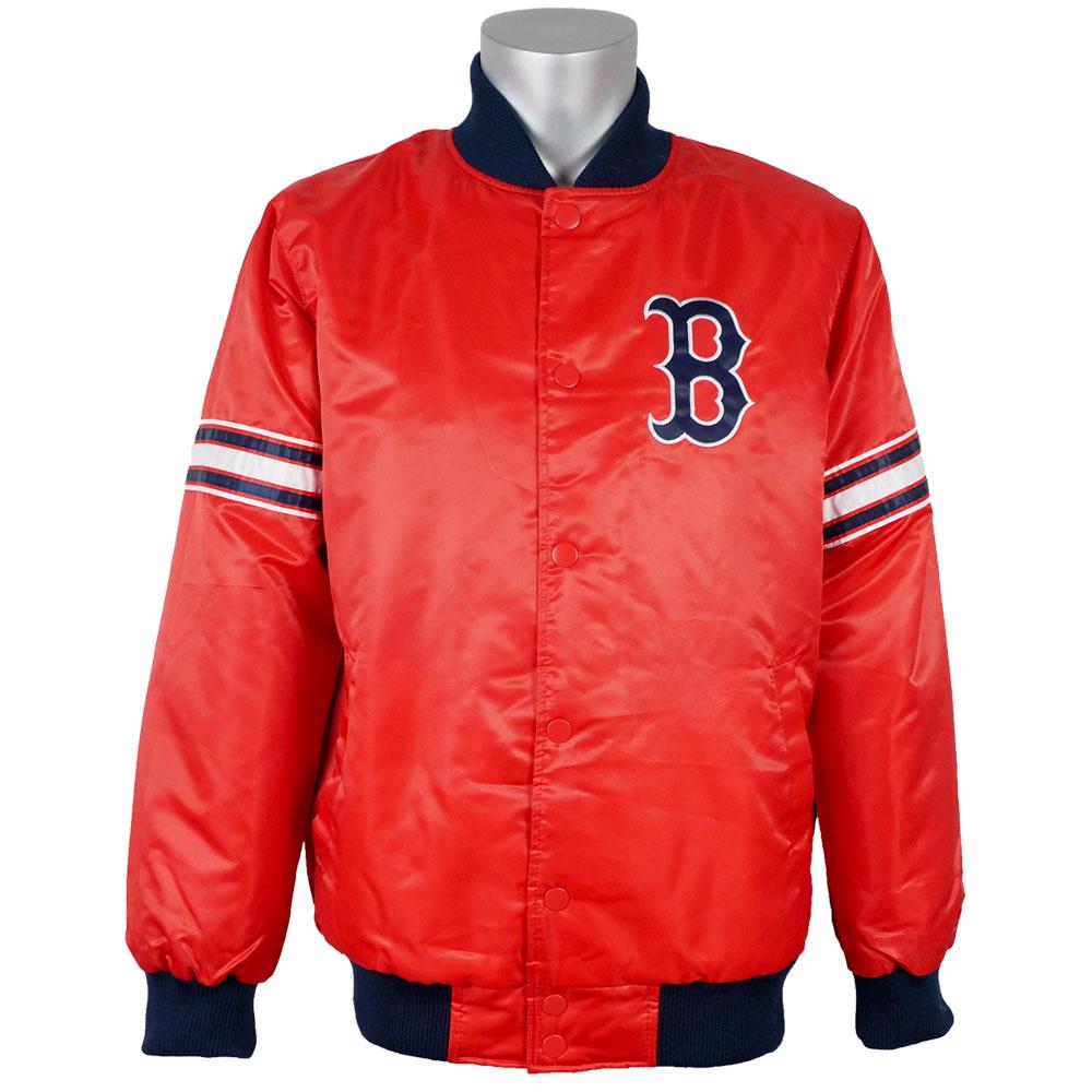 MLB レッドソックス ジャケット/アウター サテン バーシティ スタジャン メンズ スターター/Starter