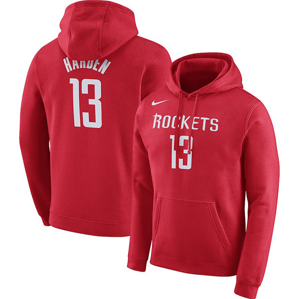 お取り寄せ NBA ロケッツ ジェームズ・ハーデン パーカー/フーディー ネーム&ナンバー エッセンシャル ナイキ/Nike レッド