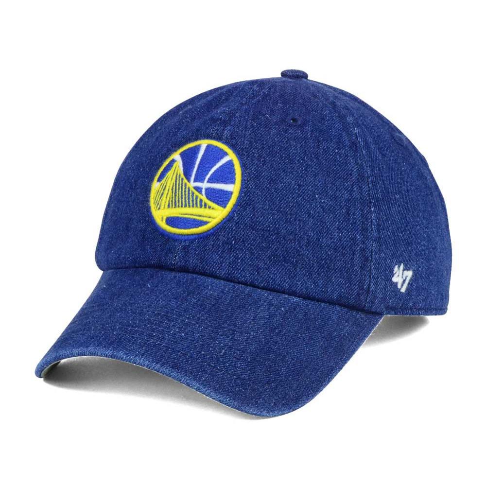 NBA ウォリアーズ キャップ/帽子 デニム クリーンナップ 47 Brand ブルー【1910価格変更】【191028変更】