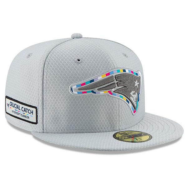 お取り寄せ NFL ペイトリオッツ キャップ/帽子 クルーシャル キャッチ フィッテッド ニューエラ/New Era グレー