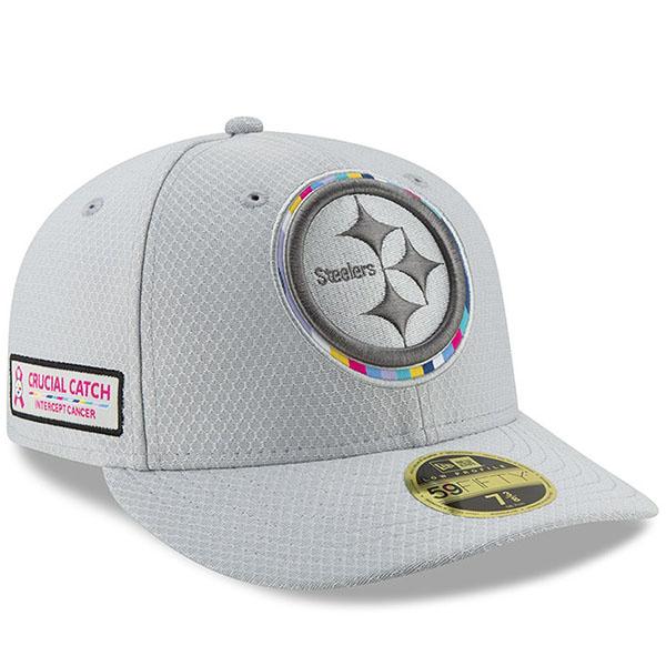 お取り寄せ NFL スティーラーズ キャップ/帽子 クルーシャル キャッチ ロープロファイル フィッテッド ニューエラ/New Era グレー