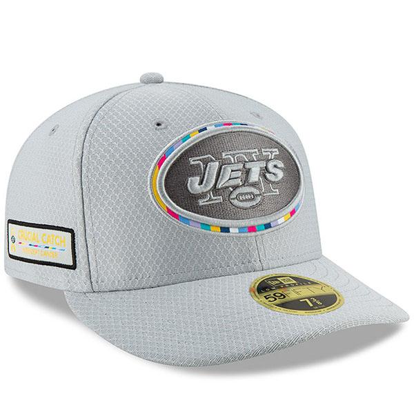 お取り寄せ NFL ジェッツ キャップ/帽子 クルーシャル キャッチ ロープロファイル フィッテッド ニューエラ/New Era グレー