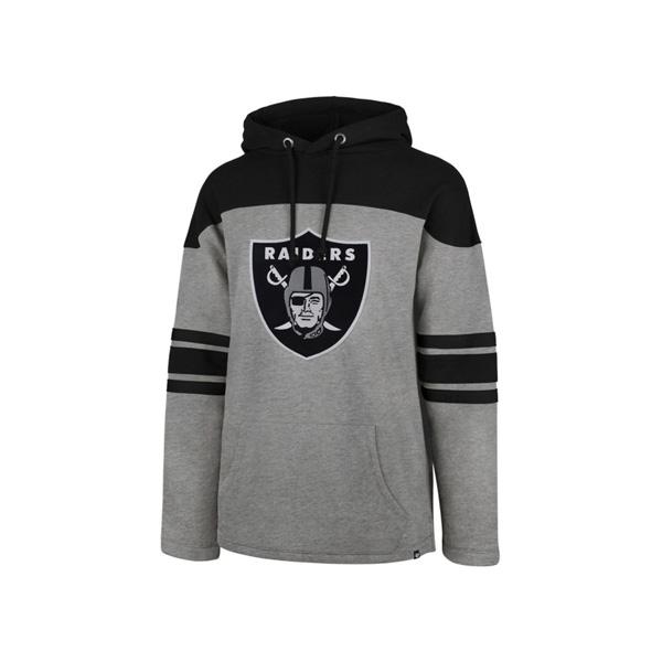 お取り寄せ NFL レイダース パーカー/フーディー ビッグロゴ ボーダー 47ブランド/47 Brand